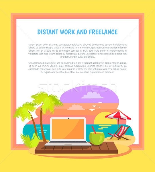 Distant Work and Freelance Poster Freelancer Job Stock photo © robuart