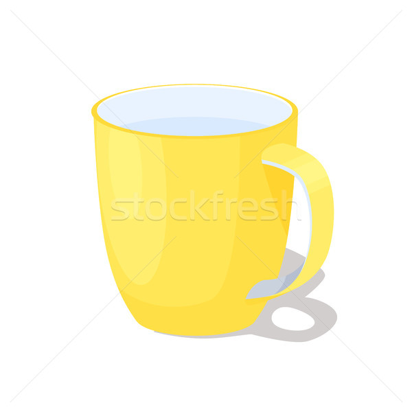 Big Yellow Ceramic Mug with Handle Full of Water Stock photo © robuart