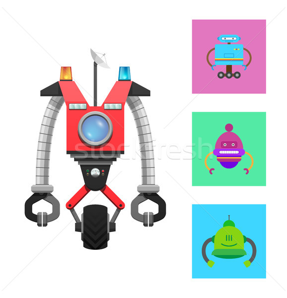 Mechanical Creature Collection Vector Illustration Stock photo © robuart