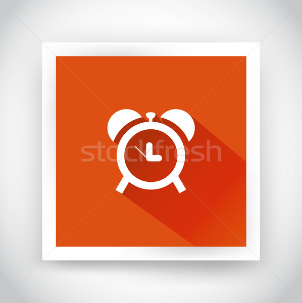 Icon of alarm clock for web and mobile applications Stock photo © robuart