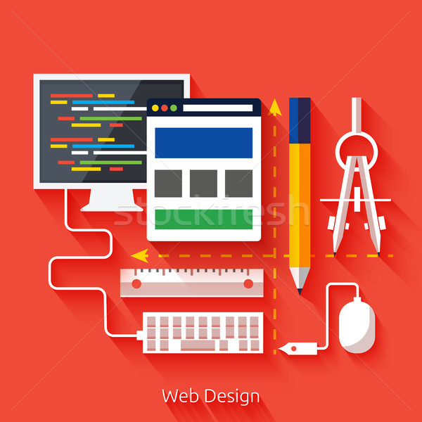 Web design. Program for design and architecture. Stock photo © robuart