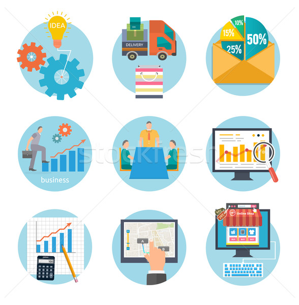 Business start infographic template Stock photo © robuart