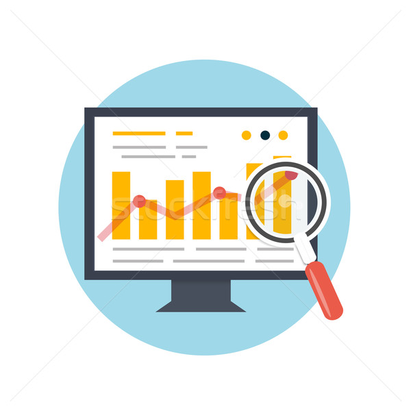 Seo optimalisatie programmering procede web analytics Stockfoto © robuart