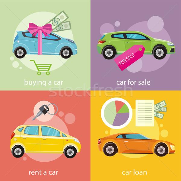 買い 車 家賃 ローン 文書 ストックフォト © robuart