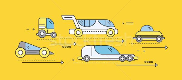 Autó jövő út szállítás forgalom autómobil Stock fotó © robuart