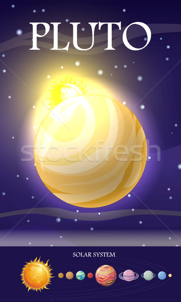 Planet Pluto in Solar System Stock photo © robuart