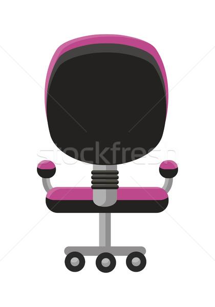 Purple Office Armchair Icon. Stock photo © robuart
