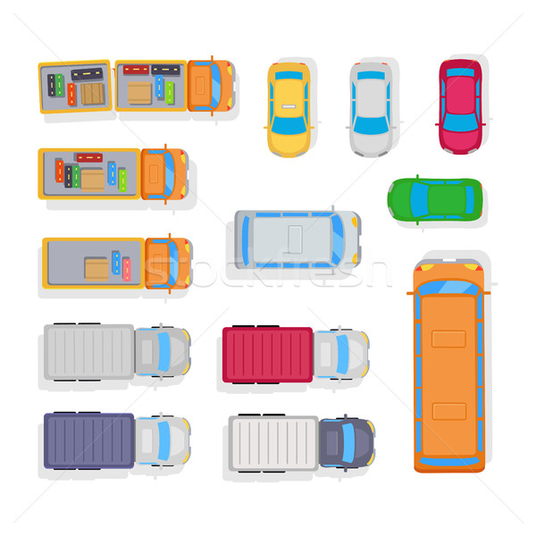 Transport. Automobile Parking on White Background Stock photo © robuart