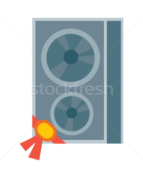 Sound Column Vector Illustration in Flat Design Stock photo © robuart