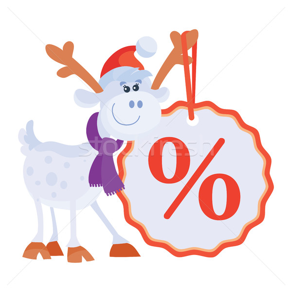 Little Toy Horse with Big Sale Discount Label. Stock photo © robuart
