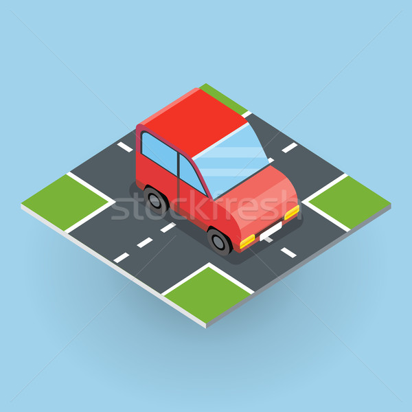 Isometric Red Car Stock photo © robuart