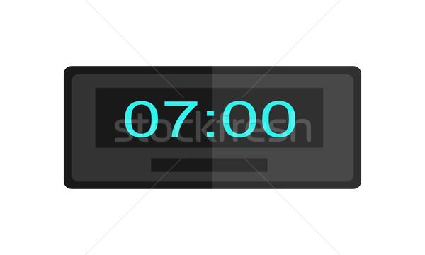 Foto stock: Tiempo · reloj · icono · oficina · diseno · interior · logo