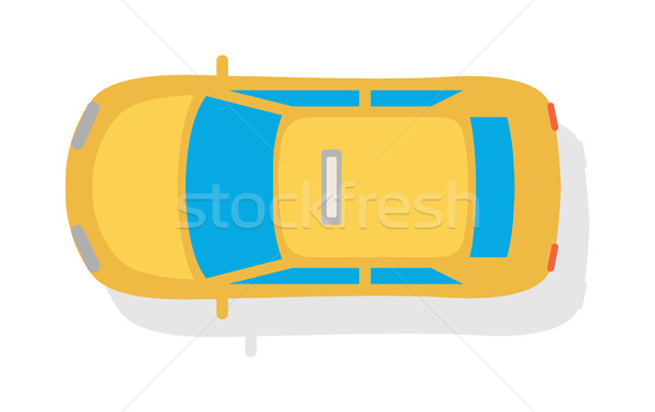 Taxi auto top stijl vector icon Stockfoto © robuart
