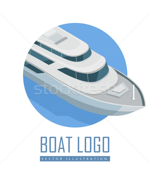 Yacht Vector Icon in Isometric Projection Stock photo © robuart
