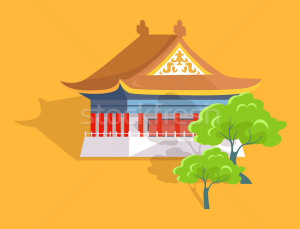 Confucius Oldest Temple in Taiwan Flat and Shadow Stock photo © robuart