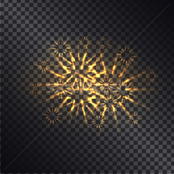 Glowing Fiery Sparks on Transparent Background Stock photo © robuart