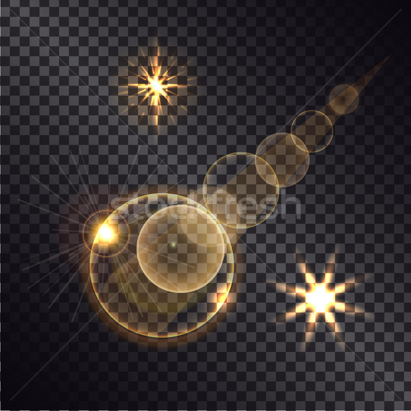 Distant Burning Star on Transparent Background Stock photo © robuart