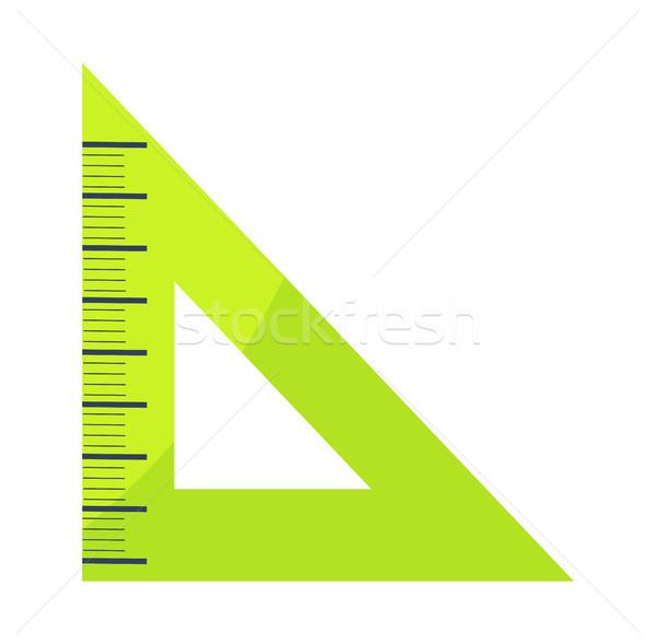 Groene heerser icon geïsoleerd witte Stockfoto © robuart