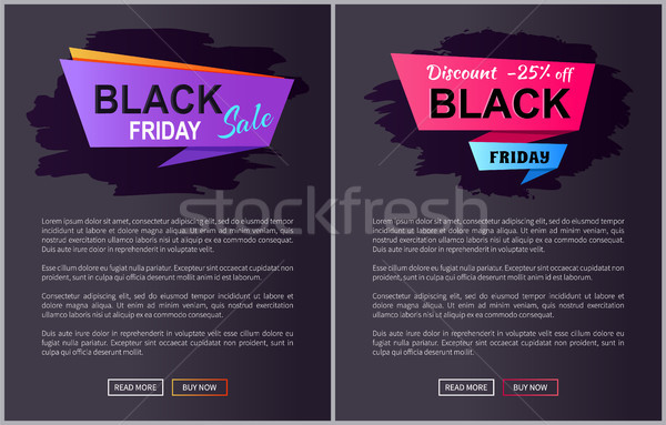 Black Friday Sale Promo Posters with Advert Info Stock photo © robuart