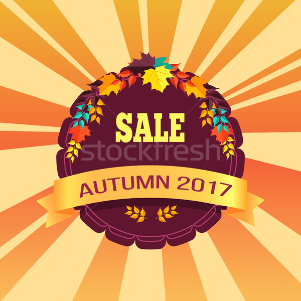 Sale Autumn 2017 Special Offer Promo Poster Leaves Stock photo © robuart