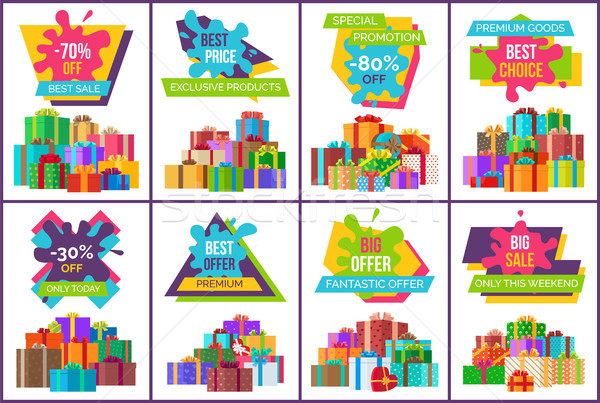 Best Sale Exclusive Products Vector Illustration Stock photo © robuart