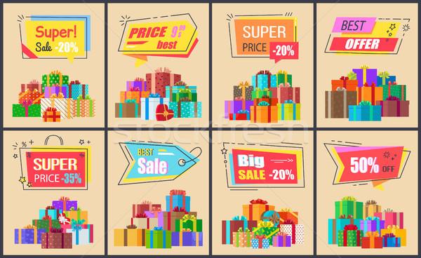 Super Price Big Sale Posters Vector Illustration Stock photo © robuart