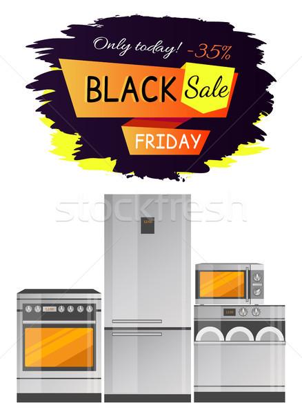 Black friday venta promoción cocina estufa refrigerador Foto stock © robuart