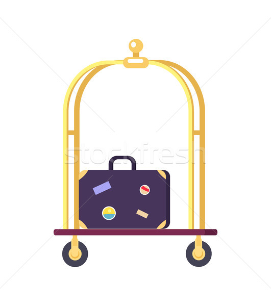 Bellman s Cart with Bag Icon Vector Illustration Stock photo © robuart