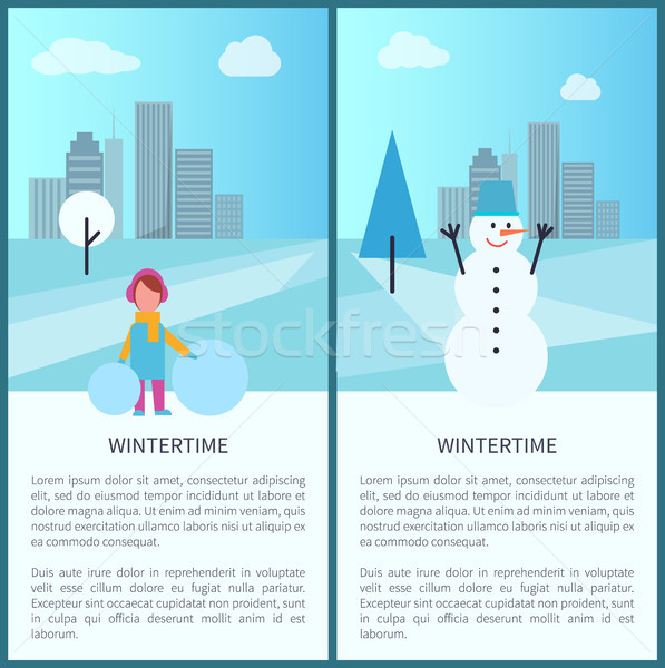 Wintertime Banners Collection Vector Illustration Stock photo © robuart