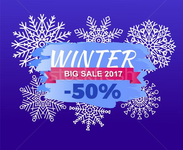 Winter Big Sale 2017 -50 Off Vector Illustration Stock photo © robuart