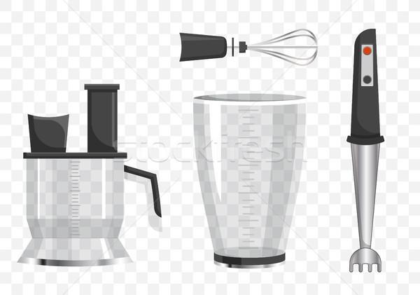 смеситель шаблон серебро инструментом различный Сток-фото © robuart