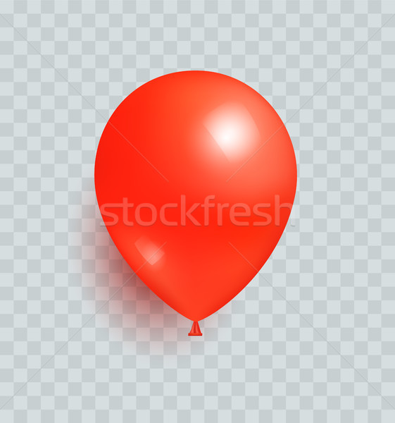 Ballon rouge couleur réaliste design vecteur Photo stock © robuart