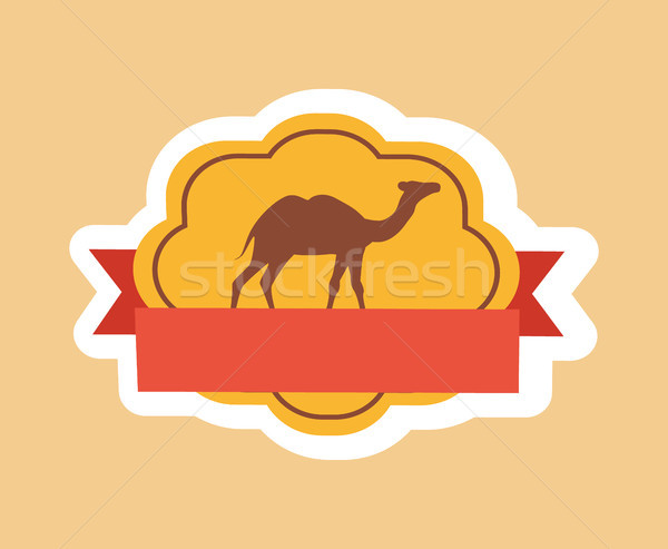 Teve csinos poszter sziluett állat kettő Stock fotó © robuart