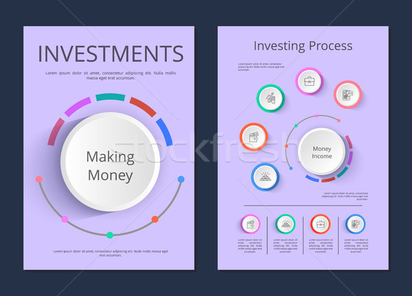 Investments and Investing Process Infographics Stock photo © robuart