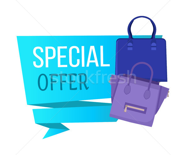 Special Offer Poster and Title Vector Illustration Stock photo © robuart