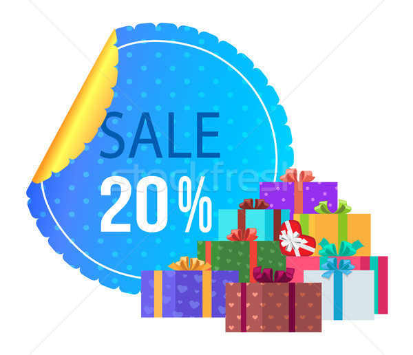 Sale 20 off Round Label Special Exclusive Offer Stock photo © robuart