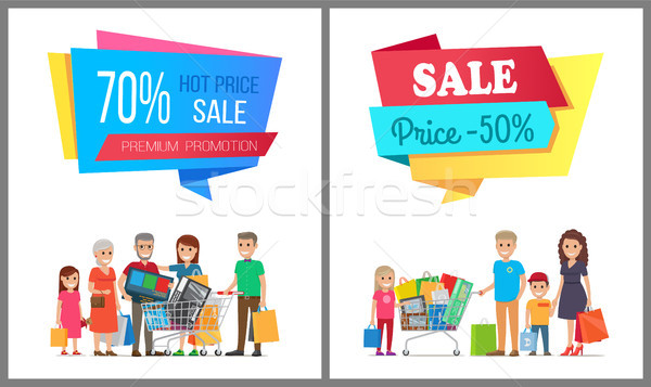 Set of Special Sale Posters Vector Illustration Stock photo © robuart