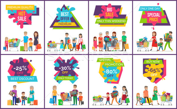 Hot Sale Premium Offer Vector Illustration Stock photo © robuart