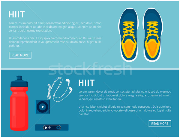Hiit Sportswear, Sport Shoes and Helpful Gadgets Stock photo © robuart