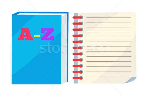 ABC Book or Copybook and Spiral Notebook Vector Stock photo © robuart