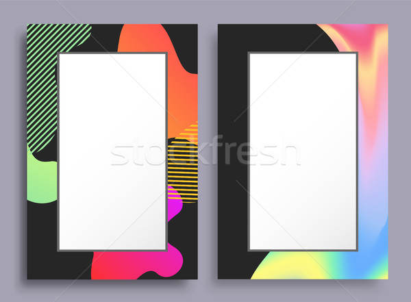 Original Vertical Frames with Stains and Pattern Stock photo © robuart