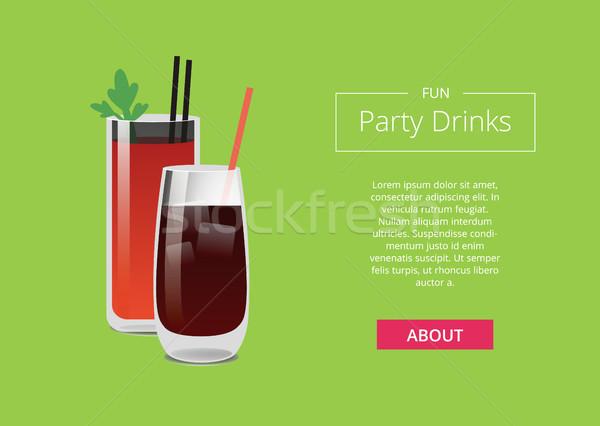 Diversão festa bebidas cartaz sangrento uísque Foto stock © robuart