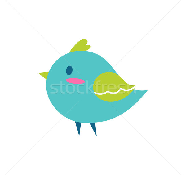 Bird of Blue Color Small, Vector Illustration Stock photo © robuart