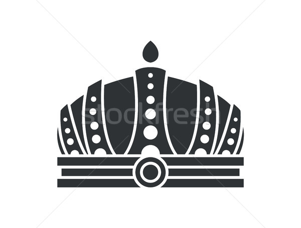 Royal Crown in Futuristic Style Complicated Design Stock photo © robuart
