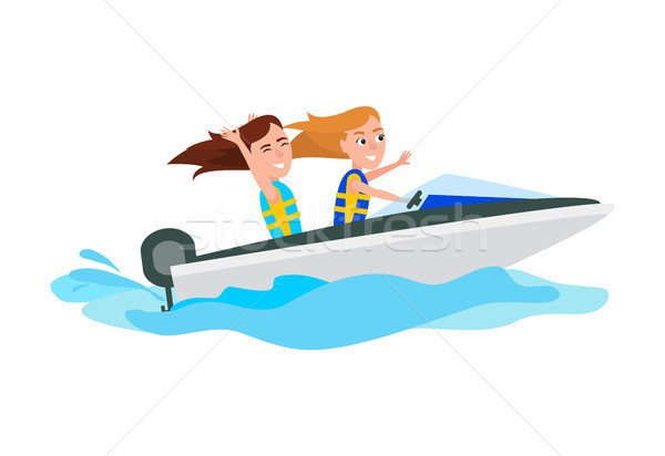 Boating Activity in Summer Vector Illustration Stock photo © robuart