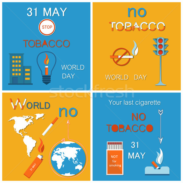 31 May World No Tobacco Day Last Cigarette Posters Stock photo © robuart