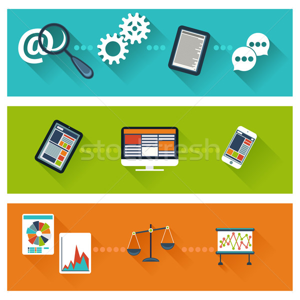 Business ontwikkeling web analytics website optimalisatie Stockfoto © robuart