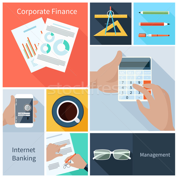 Corporate finance, web banking, management concept Stock photo © robuart