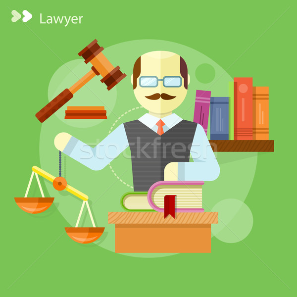Lawyer icons concept Stock photo © robuart