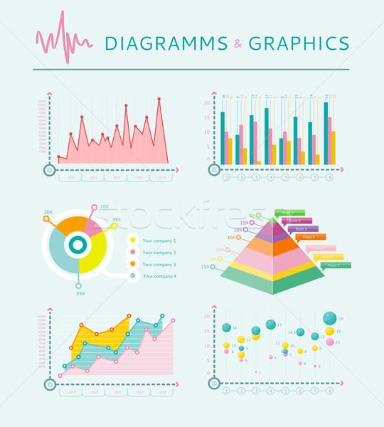 Infographic set elements, Graph and Charts, Diagrams Stock photo © robuart